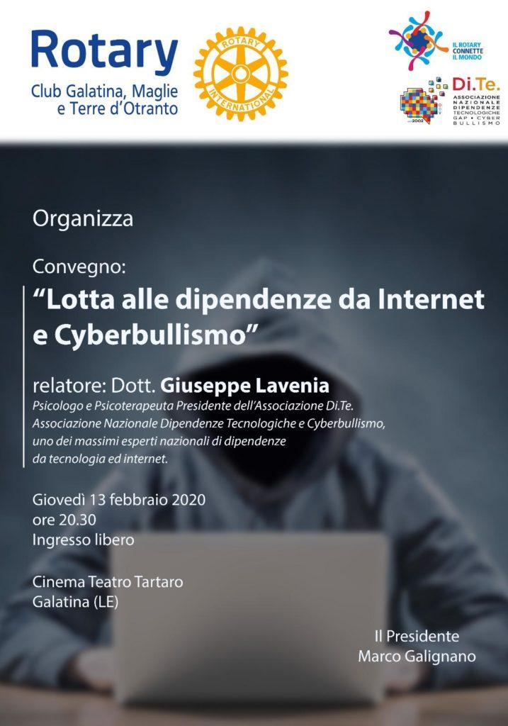 lotta alle dipendenze da internet e cyberbullismo giuseppe lavenia
