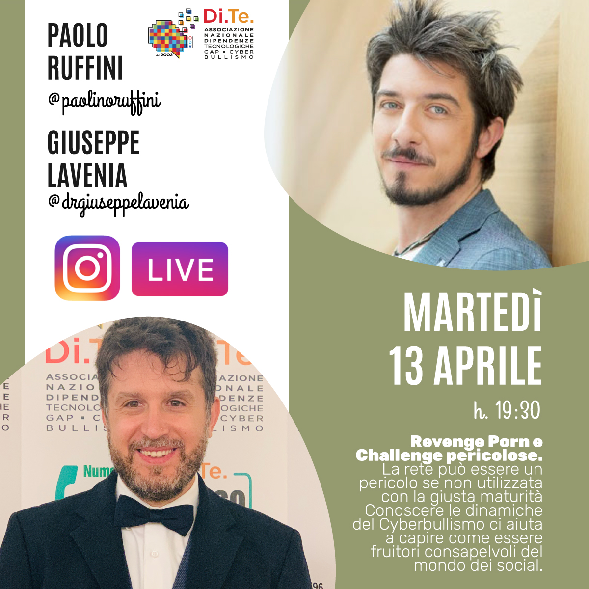 Giuseppe Lavenia Diretta Instagram